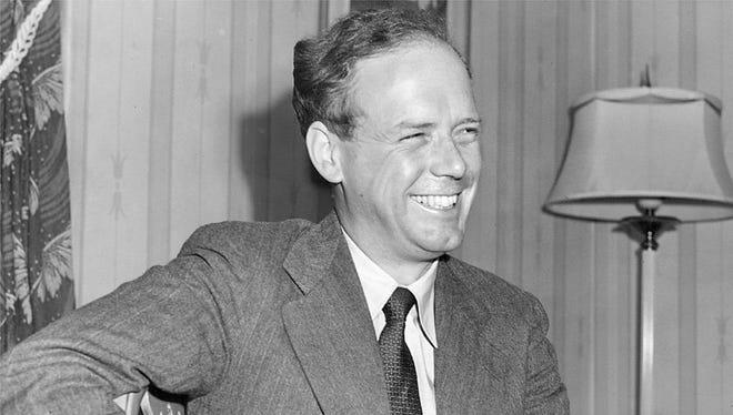 Charles Lindbergh spoke in Des Moines in 1941.