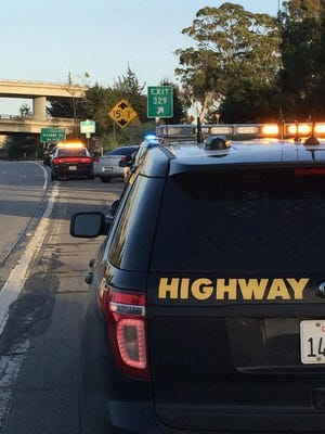 A person suspected of driving under the influence crashed into a stolen vehicle on Highway 101.