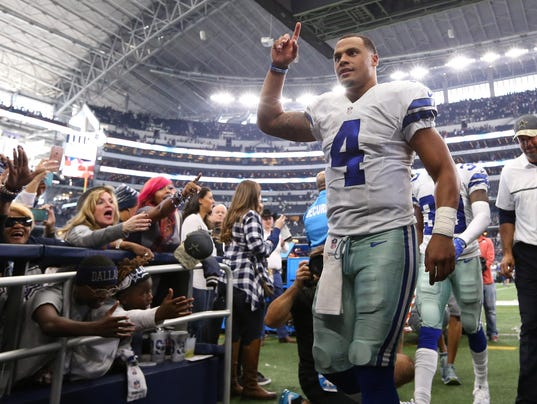 Dallas Cowboys Locker Room Dak Prescott