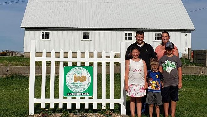 Back row: Steve and Angela Krause, Center Row: Olivia and Matthew, Wyatt in front.