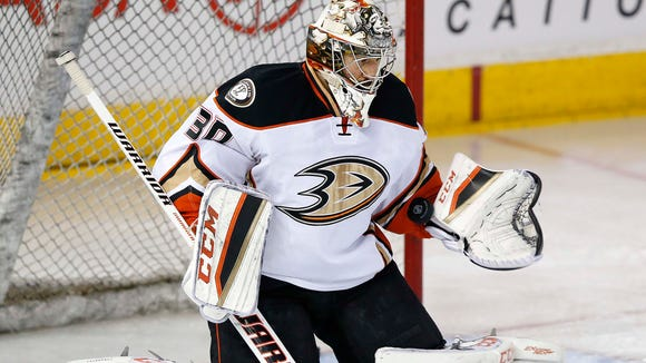 Jason LaBarbera played five games for the Anaheim Ducks last season.