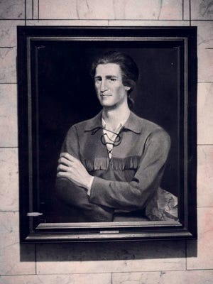 A portrait of a young George Rogers Clark was par of an exhibit on Clark at the Indiana State Museum in Indianapolis during the country's 1976 Bicentennial celebration.