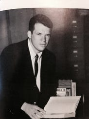 A 1966 yearbook photo of Dennis Hastert during his