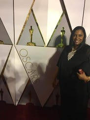 "Jina DuVernay at The Oscars when the documentary ""13th,"""