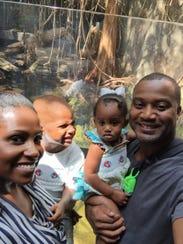 David Sadler, his wife Destiny Sadler and their two