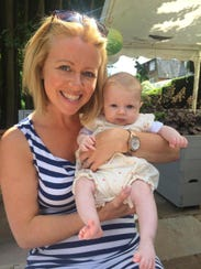 Jocelyn Cook at a pub with her daughter.