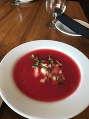 Watermelon gazpacho from Abbott's Grill on Broad Creek