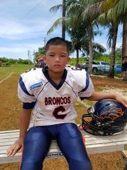 Drake Blas (6) linebacker and running back for Broncos.