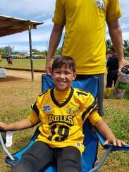 Colen Salas (19)  Island Eagles quarterback.