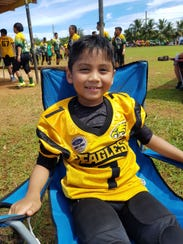 Elijah Guerrero (7), Eagles running back.