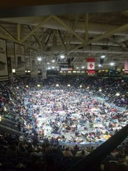 Over 6,000 evacuees packed into Germain Arena to ride