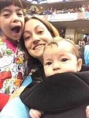 Megan Woodward and her children.