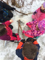 Letting the kids play imaginative games on their winter