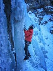 Elton Adams climbs Cataract Falls in 2014.