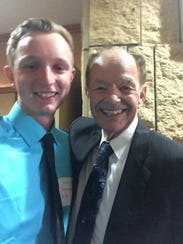 Harley Ries and his mentor Glen Taylor.