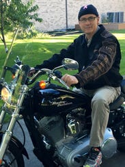 Dr. Jim Hines on his Harley-Davidson