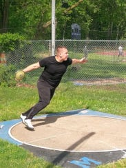 Middlesex senior Matt Semon shows his agility as he