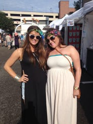 Shannon Lanerie and Paige Bonin in cotton maxi dresses