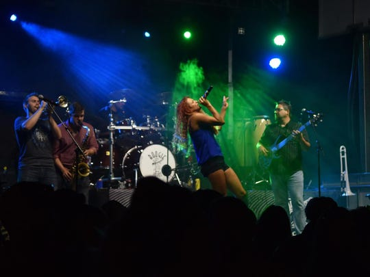 Vocalist Paige Miller of Boogie & the Yoyoz band of