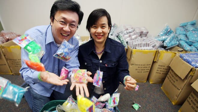 A Wixom, Mich., company called Choon's Design LLC, owned by Cheong Choon Ng and his wife Fen Chan, created the hugely popular craft toy called the Rainbow Loom. The toy  has become a household name thanks to fans making bracelets, headbands and more out of their product.