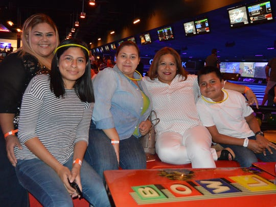 Vanessa Llanas (from left), Roxana Llanas, Claudia