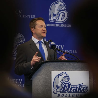 Niko Medved, the new head coach of the Drake men's