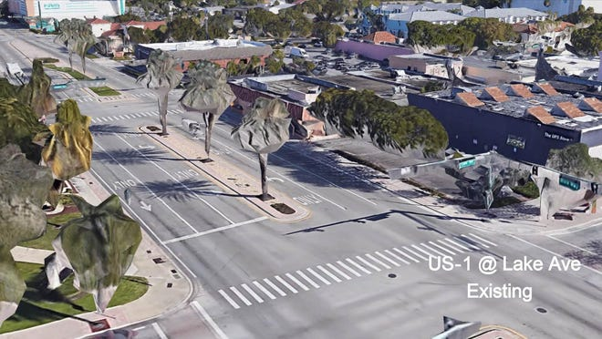 Proposed changes to Dixie Highway in Lake Worth Beach include bike lanes, medians and reducing lanes from four to three.