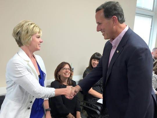 Santorum and Amy Reineke