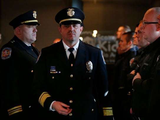 Southport Police Chief Thomas Vaughn goes through final
