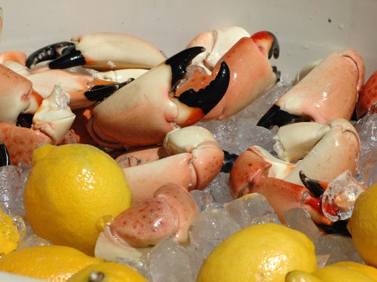 Stone crab is served at the third annual Marco Island