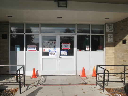 The entrance of Vassar Elementary School in the Wappingers