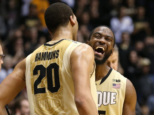Purdue Boilermakers guard Rapheal Davis and teammate