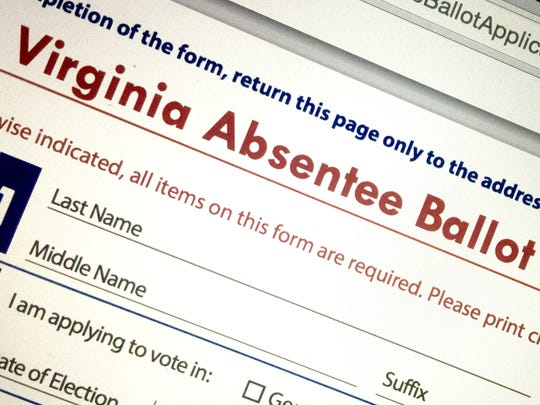 Absentee voting is up compared to four years ago, officials said.