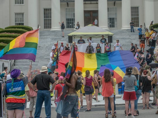 The Montgomery Pride March and Rally took place Saturday, June 23, 2018, in downtown Montgomery, AL, with a walk from Club 322 to the Capitol steps.