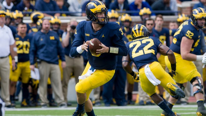 Michigan quarterback Wilton Speight should be able to find footing on Saturday against Air Force.