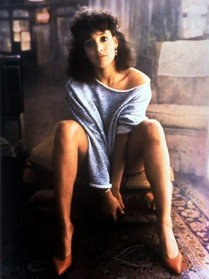 "Jennifer Beals in the look that launched ""Flashdance"" fashion."