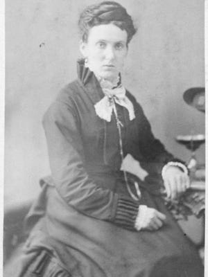 This is one of two unlabeled photos that accompanied the 1874 Ellen Metcalf diary. Could this be Ellen?