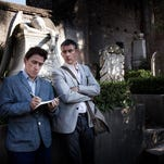 """British comedians Rob Brydon, left, and Steve Coogan in """"The Trip to Italy."""""""