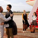 "This image released by FX shows Ashraf Barhom, from left, Adam Rayner, Jennifer Finnegan, Anne Winters and Noah Silver in a scene from ""Tyrant,"" premiering June 24. The series focuses on the youngest son of a Middle Eastern nation's dictator who returns from America after 20 years for his nephew's wedding, only to be thrown back into the turbulent familial and national politics of his youth."