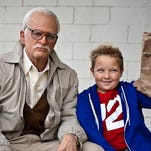"""Johnny Knoxville (left) and Jackson Nicoll in """"Jackass Presents: Bad Grandpa."""""""
