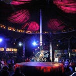Cirque du Fringe dazzles the packed spiegeltent during opening night of the Rochester Fringe Festival.