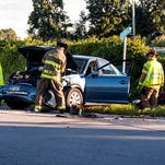 Firefighters responded to a crash at River and Quaker roads in Wheatland.
