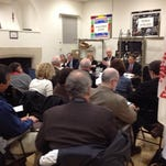 Regional school officials gather in White Plains on Monday night to discuss the state's plans to ship extensive student records to a private database. Ken Wagner, associate state education commissioner, is second from right on panel.