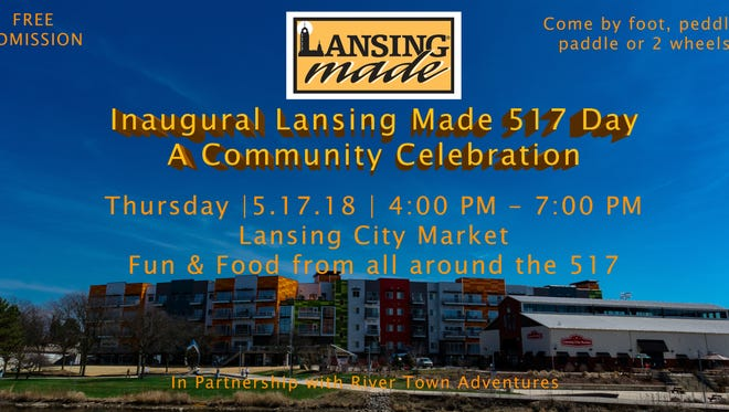 The first Lansing Made 517 Day will take place Thursday at the Lansing City Market.