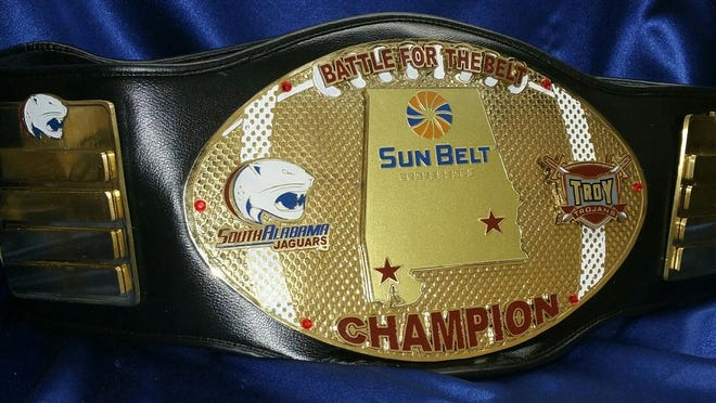 "ContributedTroy and South Alabama hatch name for annual game: the ""Battle for the Belt."""