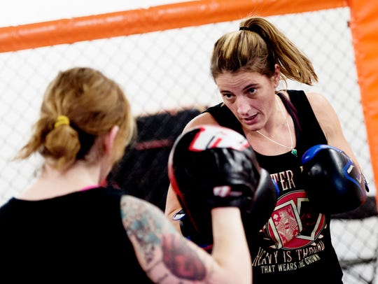 MMA fighter Olivia Parker, of Seymour, trains for her