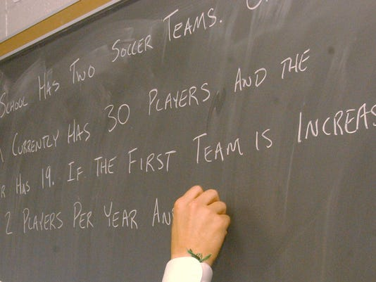 School chalkboard_writing math prob
