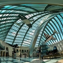 Photosphere of the interior of the National Museum of the Marine Corps.