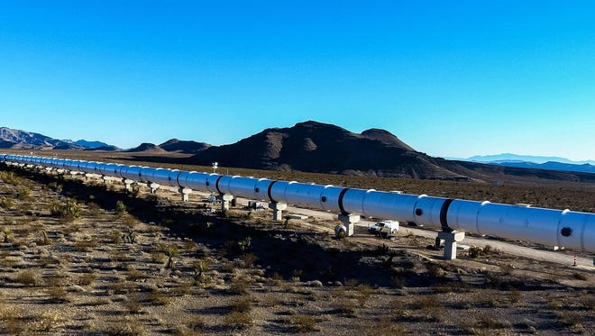 The Hyperloop One test site at Apex Industrial Park just north of Las Vegas.