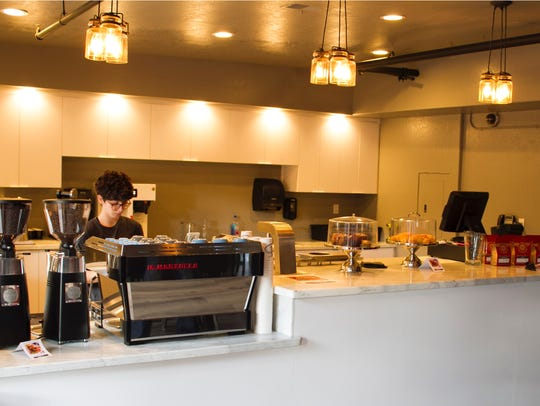 Hub Coffee Roasters in the Union complex in Carson